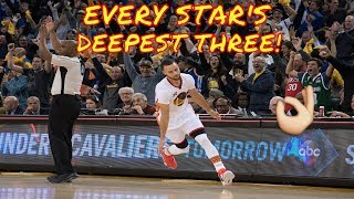 Every NBA Star's Deepest Shot!
