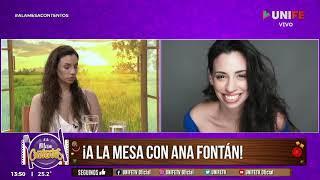 "ANA FONTAN EN UNIFE TV ""A LA MESA CONTENTOS"" CONDUCCIÓN DANIELA LOPILATO"