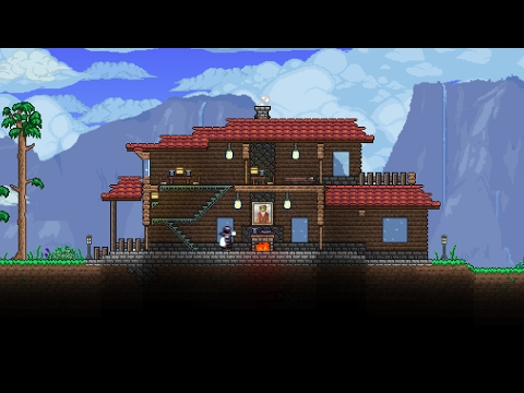 Terraria cute house design youtube for Terraria house designs