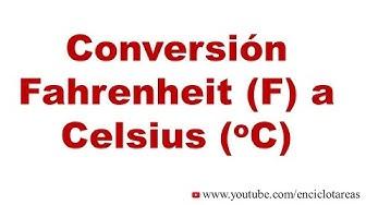 Convertir Fahrenheit (F) a Celsius (C)