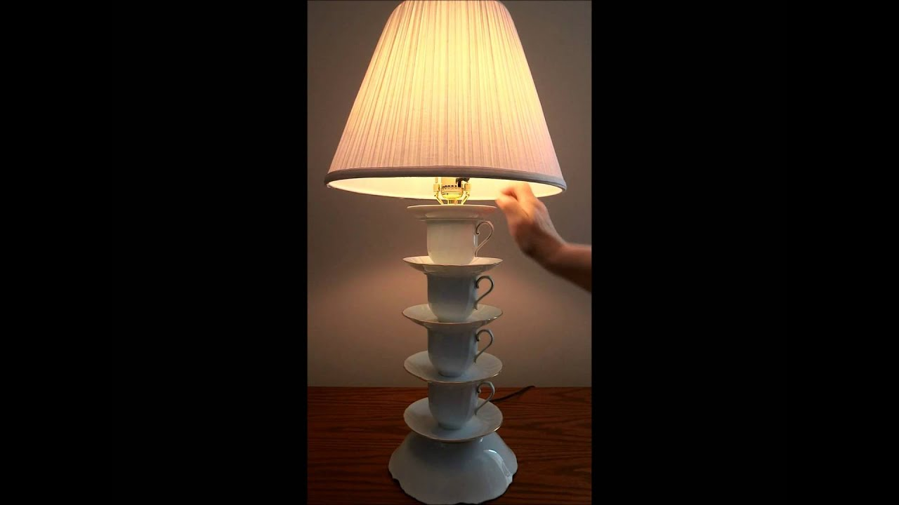 Tea / Coffee Cup Lamp #1 - YouTube
