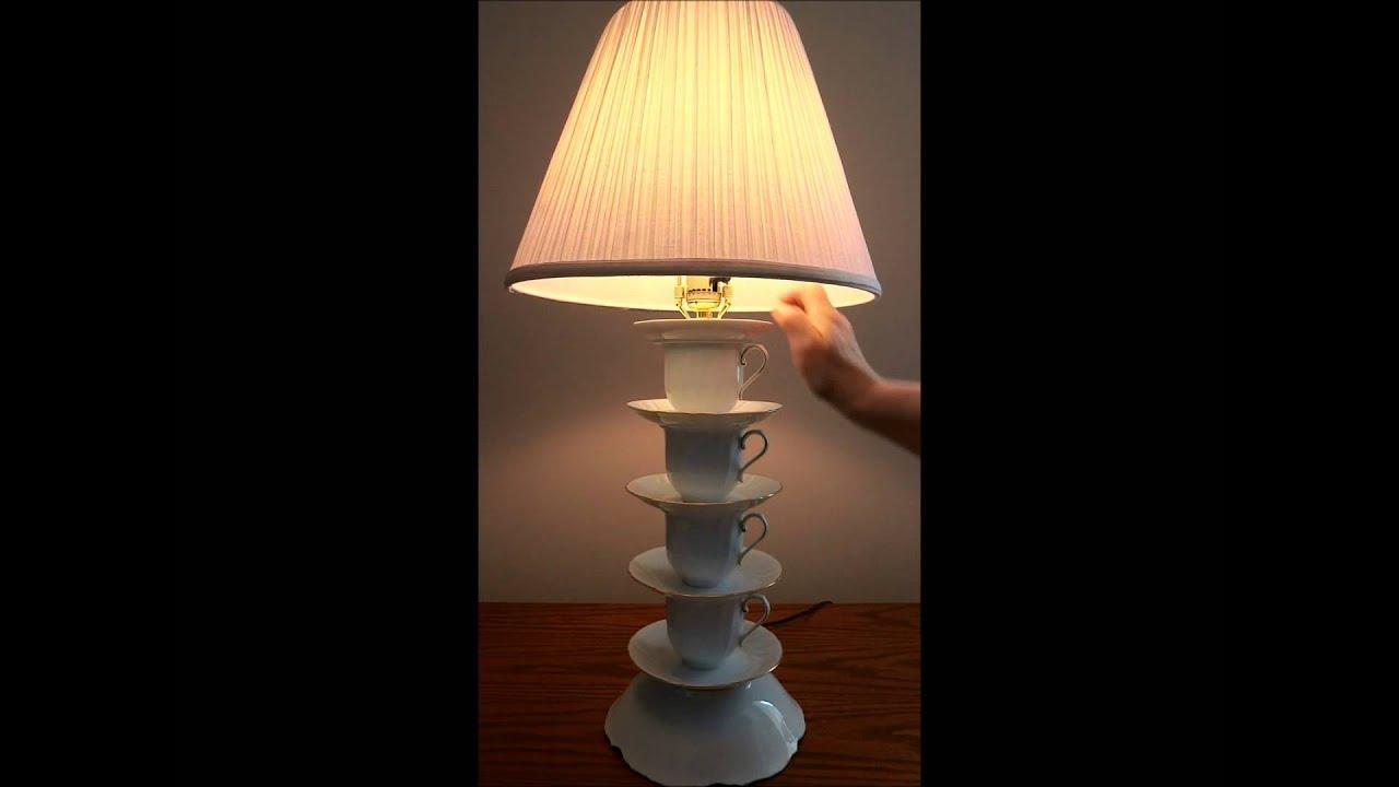 Tea / Coffee Cup Lamp #1 - YouTube