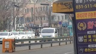 55번 남양주시 트롤리버스 중흥아파트 출발