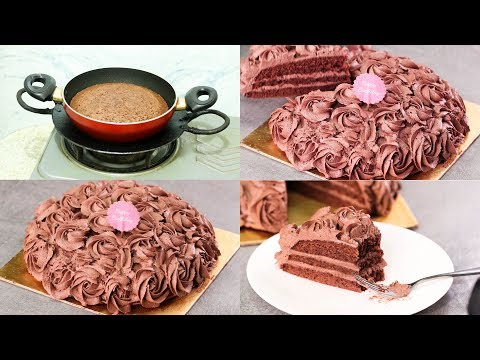 BIRTHDAY CAKE IN KADAI l EGGLESS & WITHOUT OVEN l CHOCOLATE BIRTHDAY CAKE l N'Oven