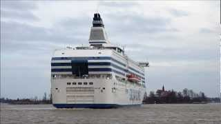 Silja Line Cruiseferry - Symphony Leaving Helsinki South Harbour - Finland 23 April, 2012