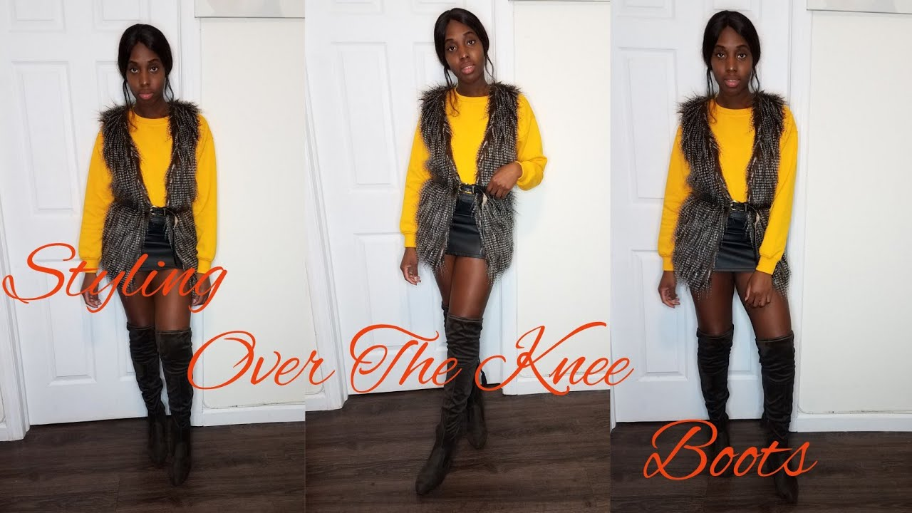 How To Style Over The Knee Boots For Fall| Fall Outfit Ideas 1