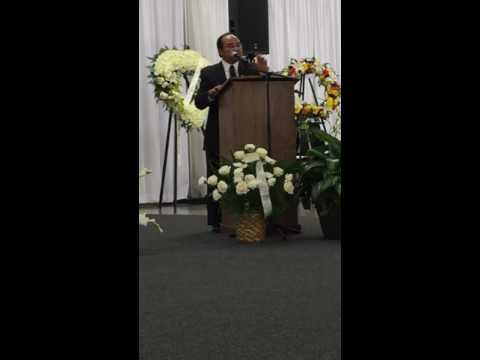 Dr. Tony Vang speaks at LT. Col Vang Chou's Funeral