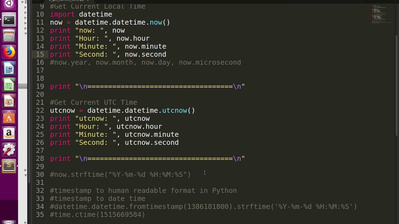 Python How to get Current Local Time and UTC Time