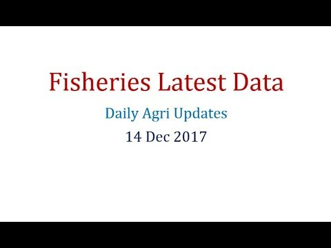 Fisheries Latest Data 14DEC17 Daily Agri Updates For AFO, NABARD Etc