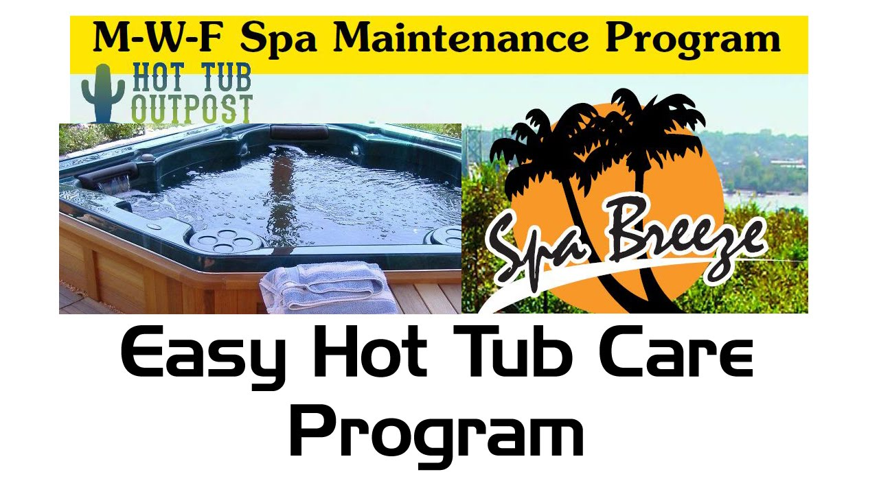 M-W-F Hot Tub Maintenance Program - YouTube