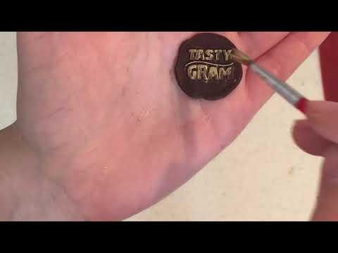 Как сделать штамп на шоколаде.