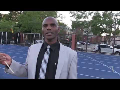 Marathon Hero Belayneh Densamo wishes good luck for team Ethiopia in Rio