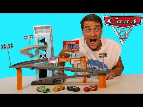 Cars 3 Piston Cup Motorized Garage ! || Disney Toy Review || Konas2002