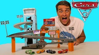Cars 3 Piston Cup Motorized Garage ! || Disney Toy Review || Konas2002