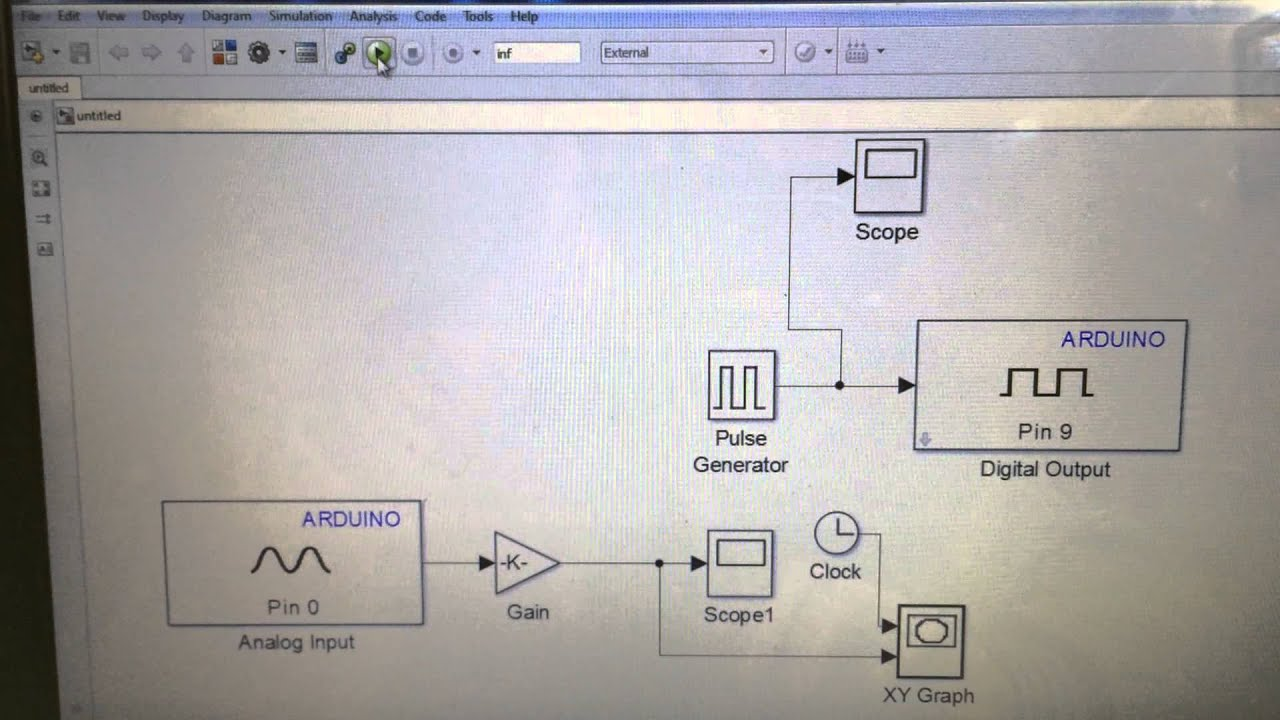 Arduino mega with matlab a simulink youtube