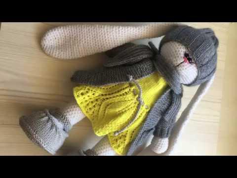 Вязаные игрушки зайка Тильда крючком.Tilde Bunny.