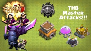 How to Trophy Push in Town Hall 8 to Master League - TH8 GoWiPe Attacks!!! - Clash of Clans
