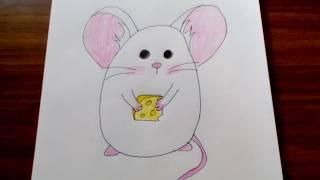 Уроки рисования | Как нарисовать мышонка | Рисуем легко и просто | #6