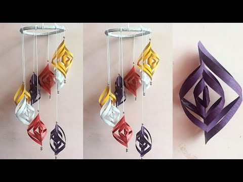 Diy paper craft | paper wind chime ideas | wall hanging idea | wall decoration ideas | #A130