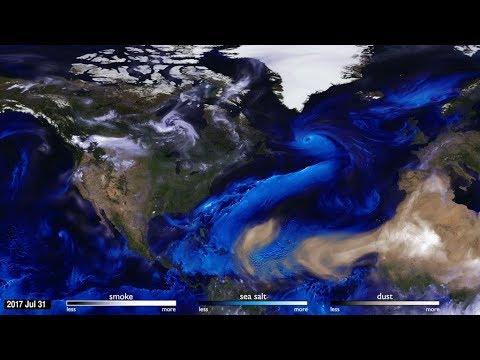NASA faz simulação incrível das partículas que são transportadas pelo mundo