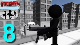 Stickman Gun Shooter 3D Walkthrough Part 8 Survival / Android iOS Gameplay HD