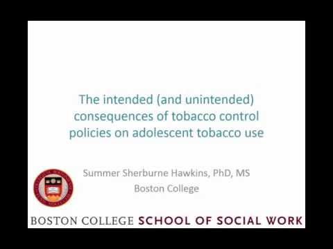 Summer Hawkins, Boston College: Consequences of tobacco control policies on adolescent tobacco use