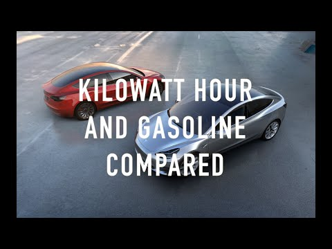 Kilowatt Hour vs Gasoline Compared