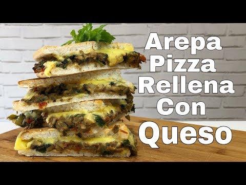 Arepa Vegana Sin Gluten Rellena De Queso/Recetas Veganas/Pizza Vegana Con Queso Y Sin Gluten