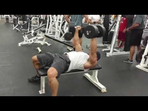 Palms-In Flat Dumbbell Bench Press