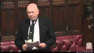 Lord James of Blackheath questions $16 trillion scam in UK House of Lords chamber February 16th 2012