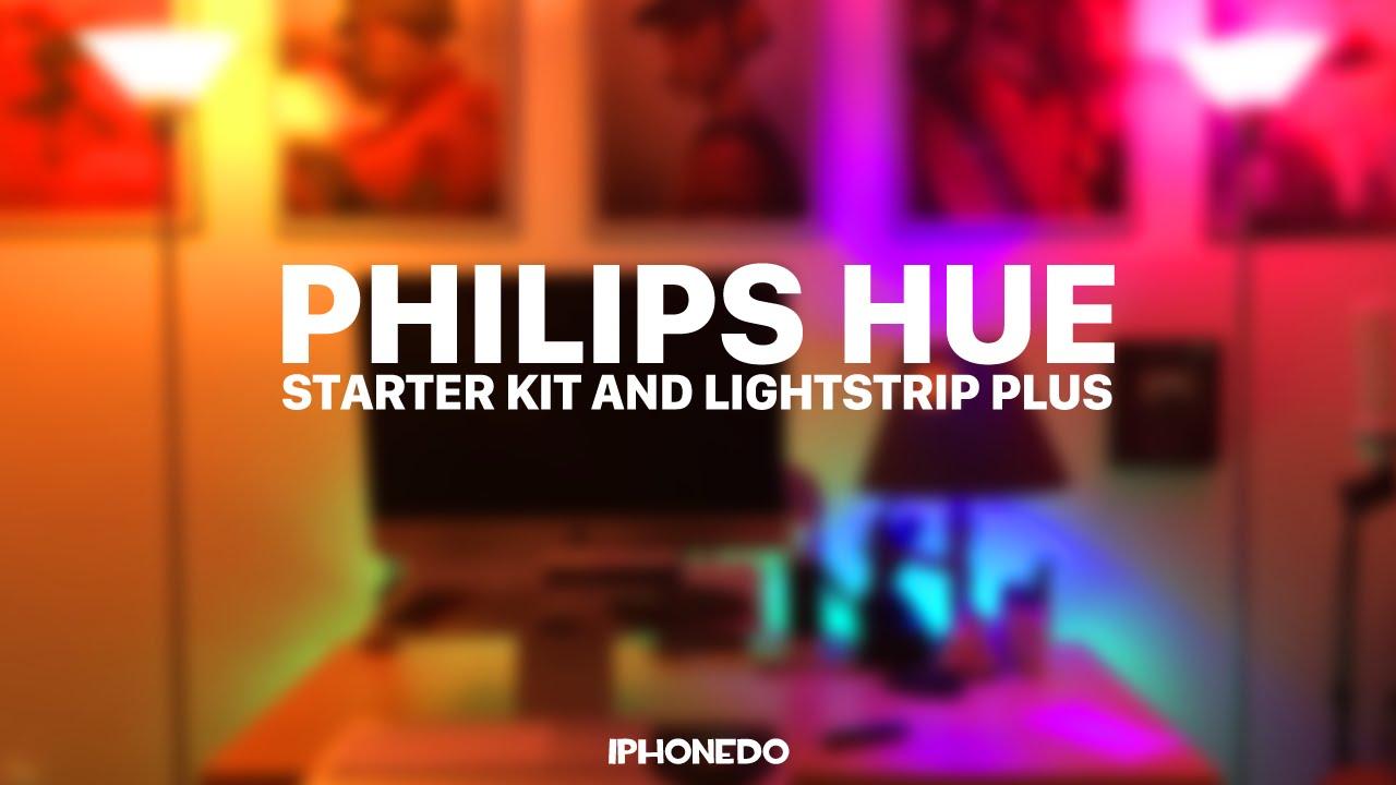 Philips Hue Starter Kit Lightstrip Plus Youtube
