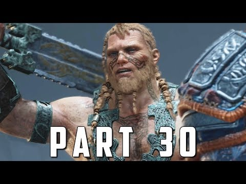 GOD OF WAR Walkthrough Gameplay Part 30 - MAGNI & MODI BOSS (God of War 4)