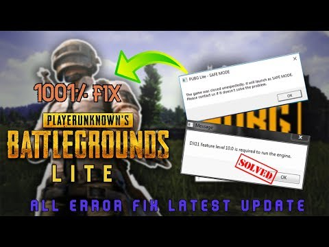 PubgLite Error Fix | DX11 ERROR | SAFE MODE