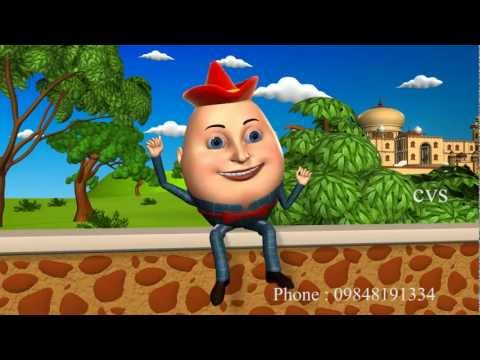 Humpty Dumpty - 3D Animation English Nursery Rhyme songs For Children with Lyrics