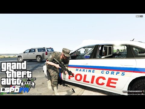 GTA 5 - LSPDFR - EPiSODE 88 - LET'S BE COPS - FORT ZANCUDO ...
