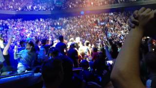 U2 fans freak out on stage in Montreal 16/06/15