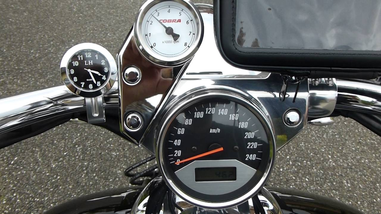 cobra tachometer on vtx 1800c [ 1280 x 720 Pixel ]