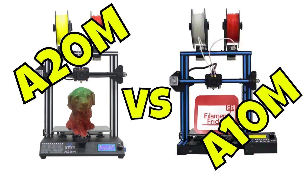 Dual color 3D Printing GEEETECH A10M vs A20M