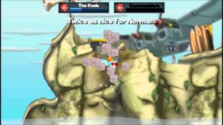 [PSP] Worms Open Warfare 2 Gameplay - Son Oliver