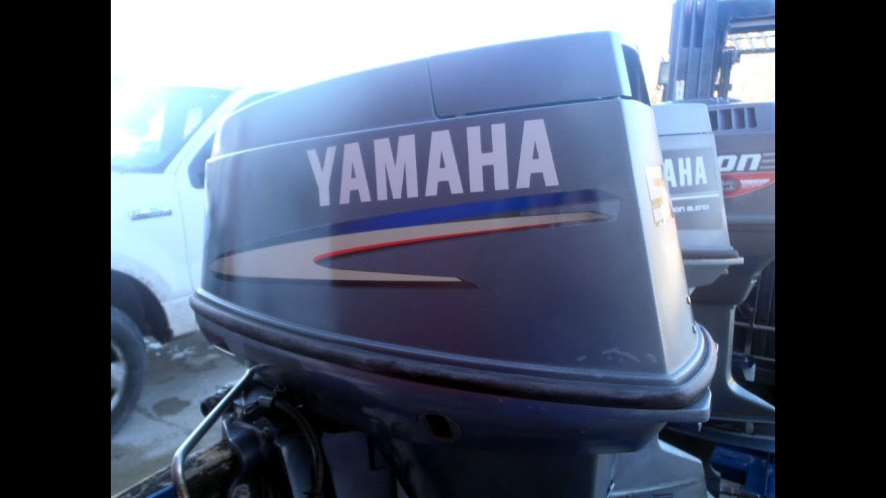 6m7g87 used 2004 yamaha 50tlrc 50hp 2 stroke remote outboard boat motor 20 shaft [ 1280 x 720 Pixel ]