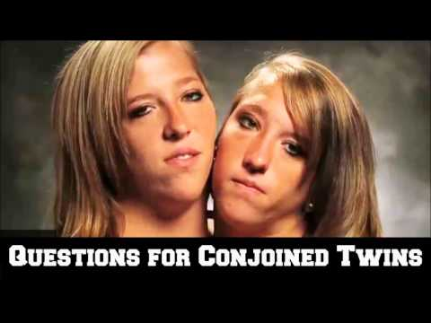 Questions for Conjoined Twins from YouTube · Duration:  3 minutes 30 seconds
