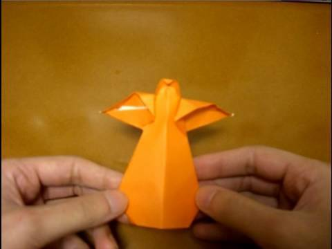 Origami Angel - Christmas Tree Decoration (How to make) - YouTube | 360x480
