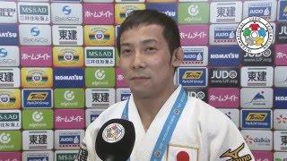 TAKATO Naohisa (JPN) Interview Judo GS Tokyo 2015