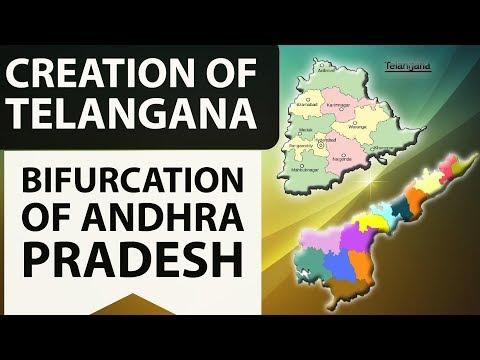 Creation of Telangana, Bifurcation of Andhra Pradesh - APPSC TSPSC - AP Reorganisation Act, 2014