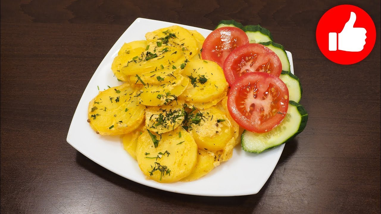Вкусная Картошка, Простой Рецепт Вкусной Картошки | жареная картошка с мясом в мультиварке поларис