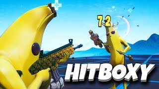 HOW TO KILL A BANANA?! (Peely Skin) Hitbox Test-Fortnite Battle Royale w/DEOman
