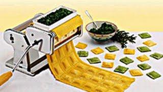 Лапшерезка тестораскатка с насадкой для равиолли