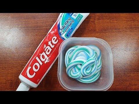 4 Лизуна без клея Слайм из зубной пасты шампуня Как сделать