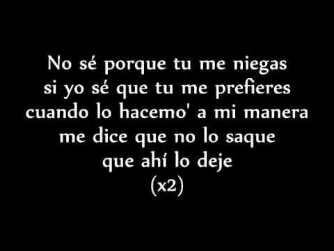 Baby Rasta y Gringo Me Niegas Letra Original