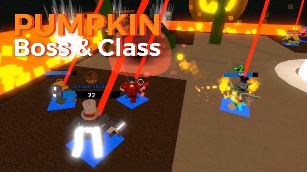 Pumpkin Boss Class Project Submus Accudo Roblox Youtube